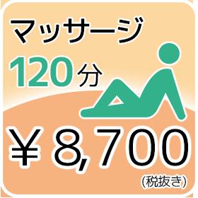 120分 8,700円